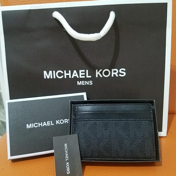 22b8f97c1505 new money clip card case small wallet michael kors